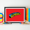 Baby Gifts, Personalized Baby Name Frame, Superhero Wall Art, Boys Wall Art, Nursery Wall Decor Girl