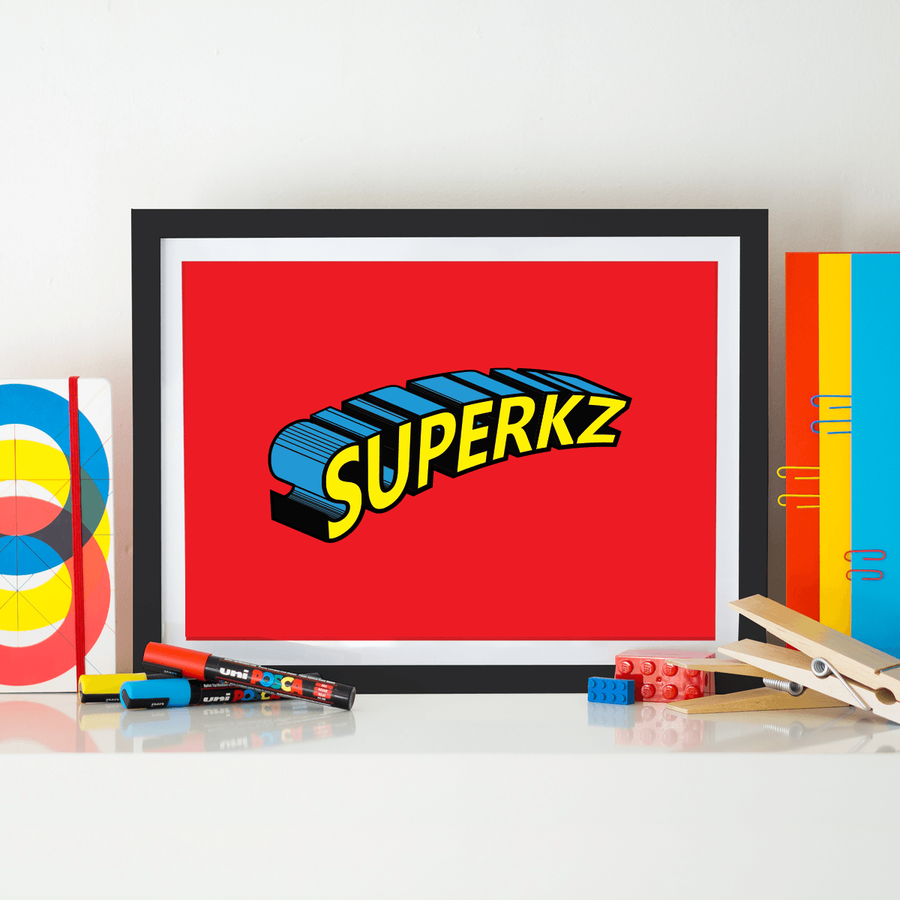 Baby Gifts, Superhero Wall Art, Boys Wall Art, Nursery Wall Decor Girl, Yislamoo