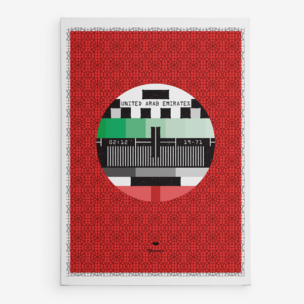 A4 Art Print TV Signal UAE