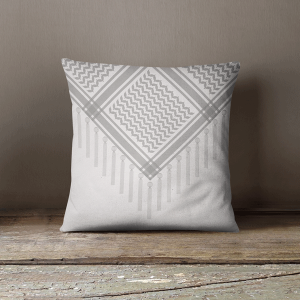 Bedouin Scarf in White Faux Suede Square Pillow Case,Yislamoo