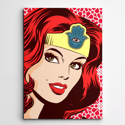 pop art on canvas,canvas wall art,art on canvas,Yislamoo