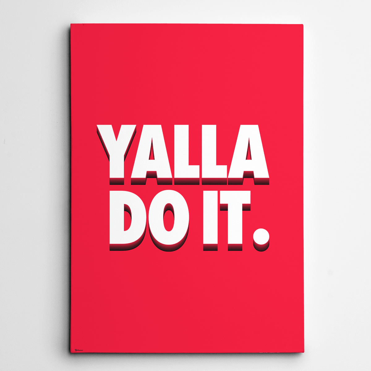 inspirational wall art canvas,Yalla Do it,Yislamoo