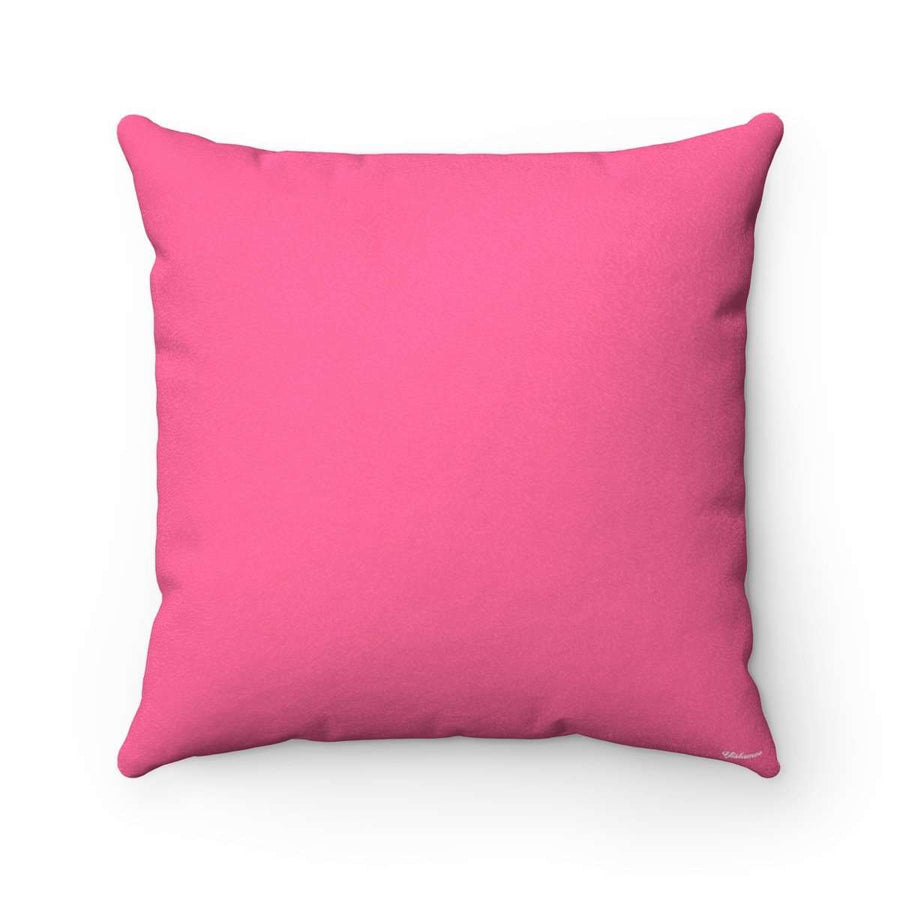 Bedouin Scarf in Pink Faux Suede Square Pillow Case