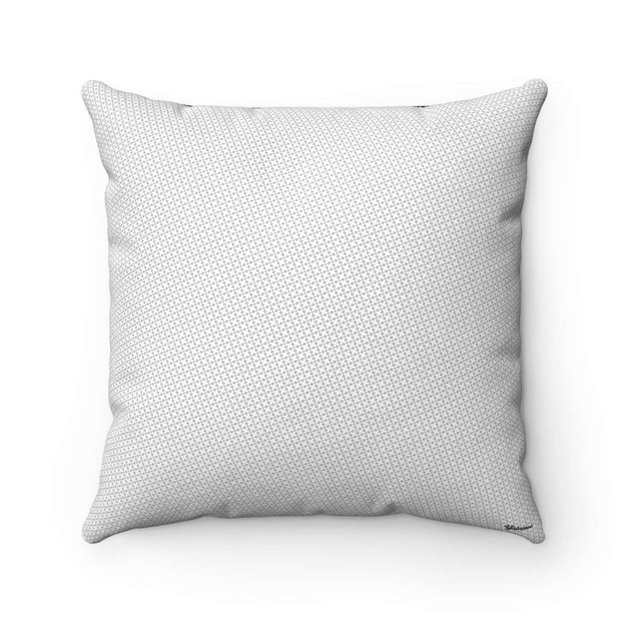 Black & White Pillow Case in Faux Suede