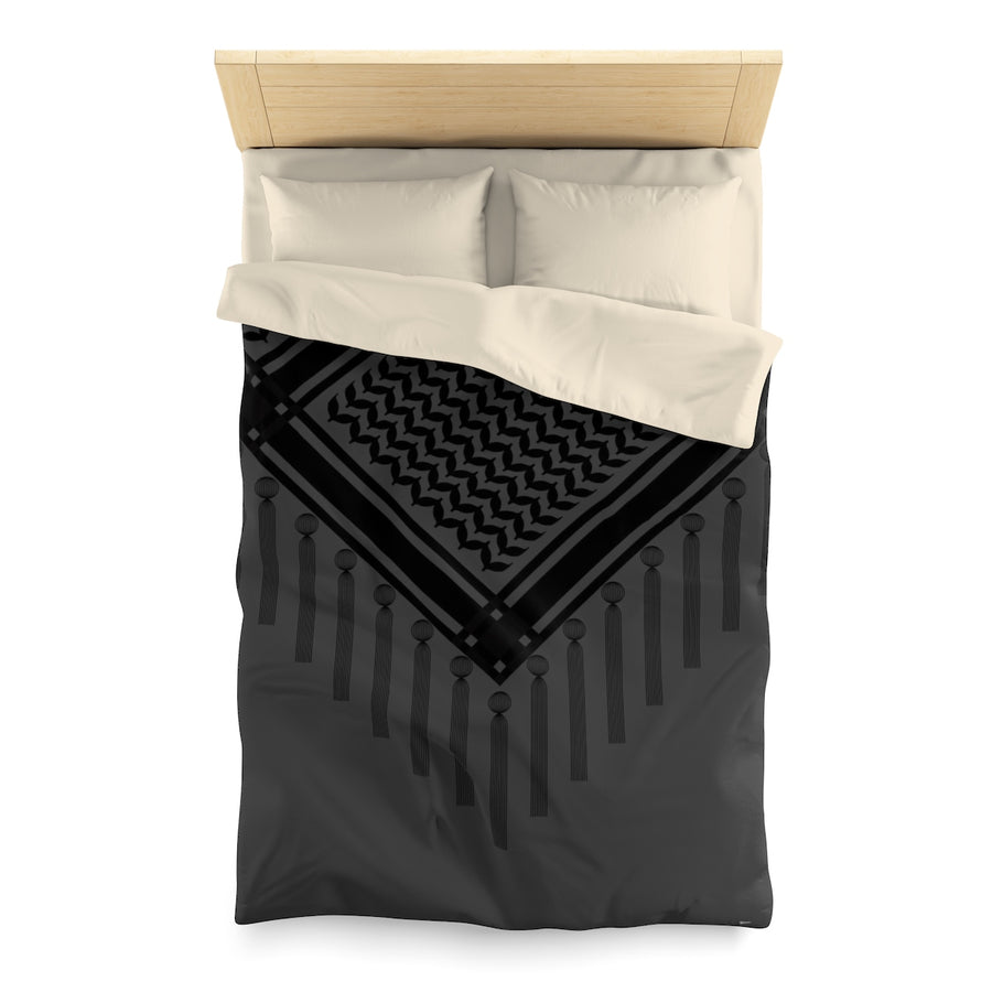Bedouin Scarf Duvet Cover in Black | Yislamoo