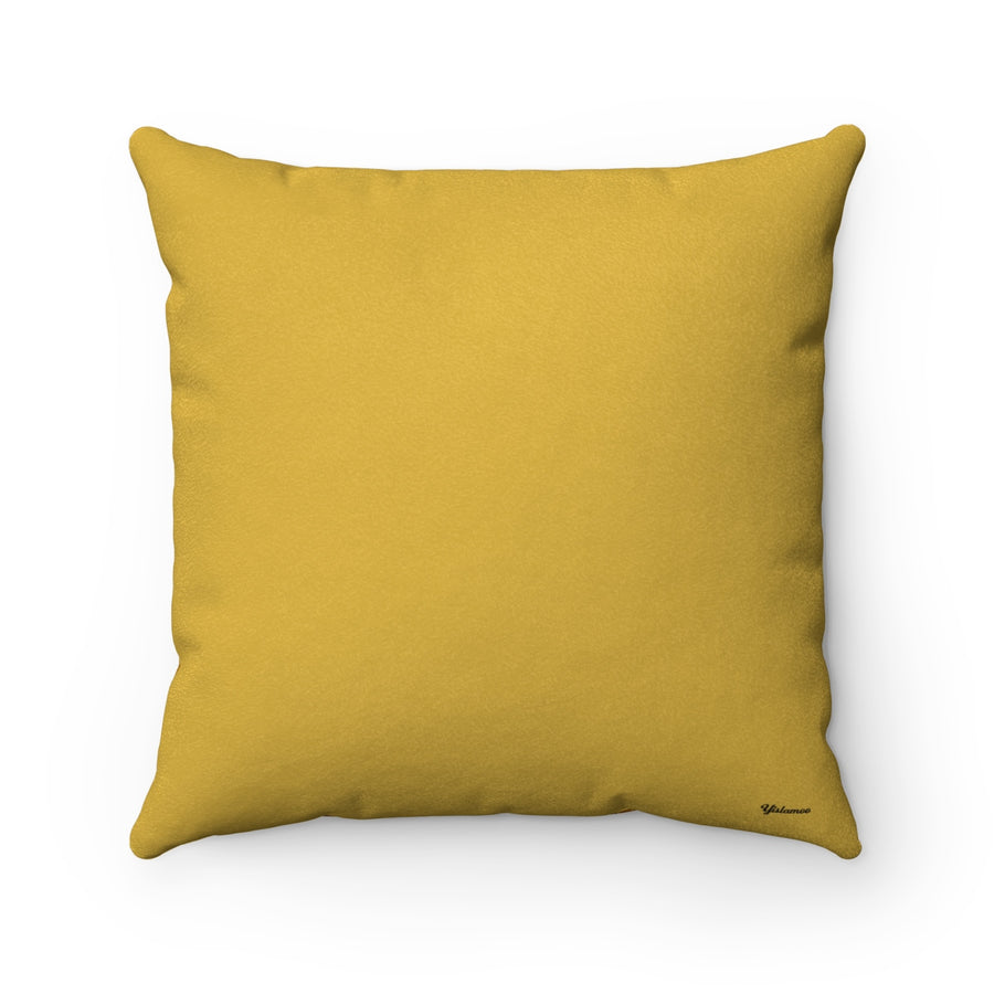 Oud in Ceylon Yellow Faux Suede Square Pillow Case