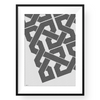 Yislamoo | Embroidered Grid | Framed Print Black