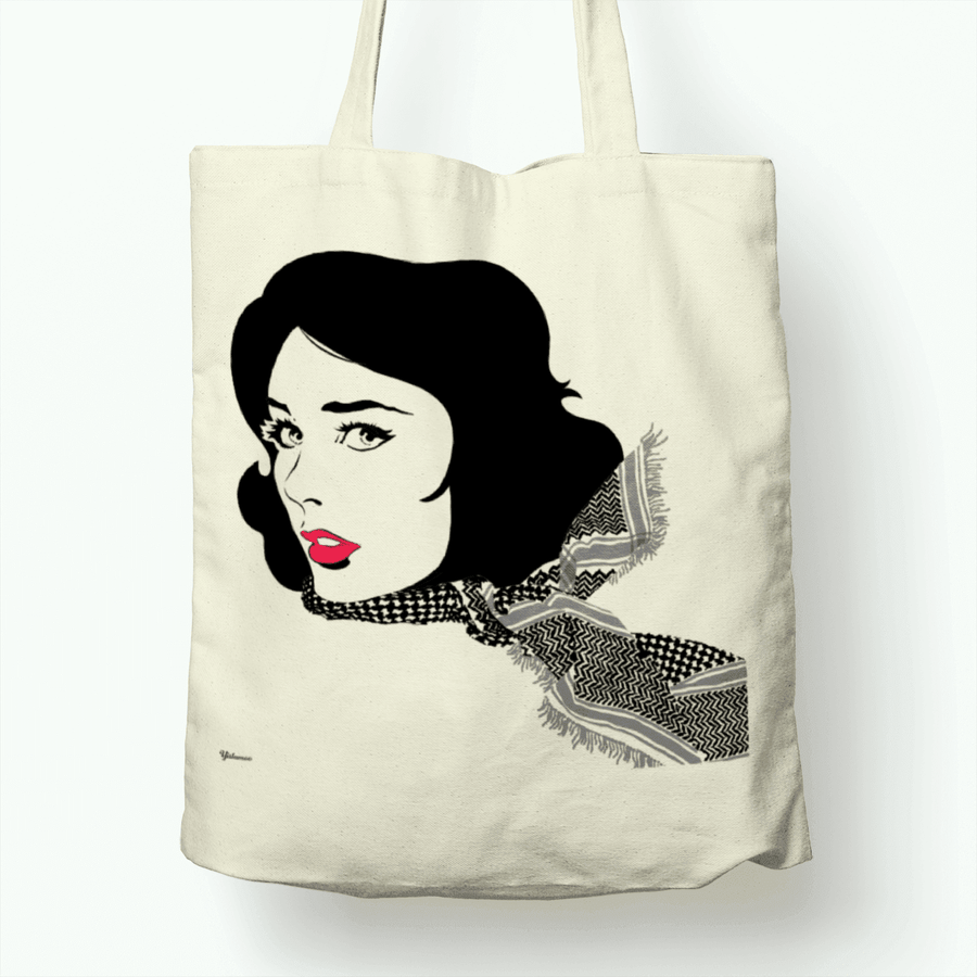 Black Shemagh Tote Bag