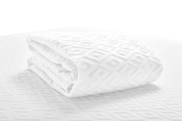 Folded image of the white, active dry mattress protector (No Script)