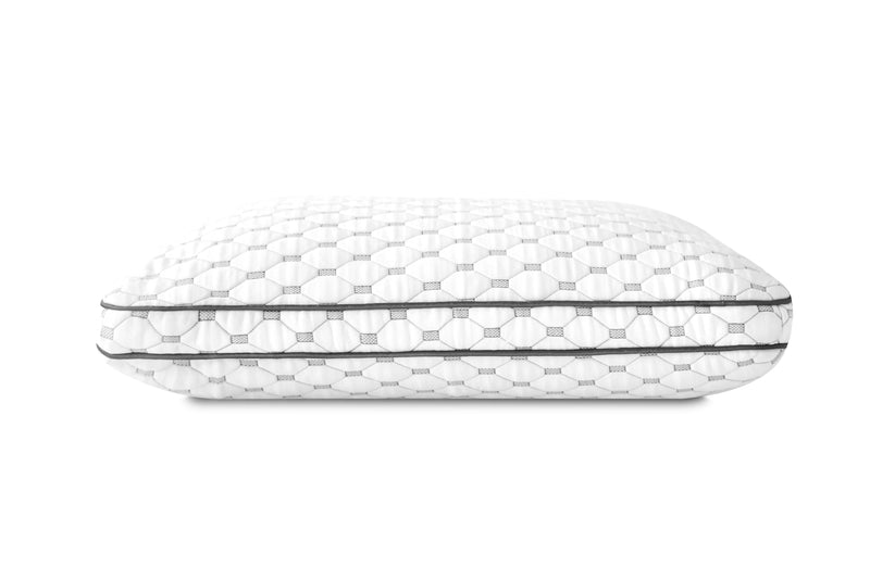 Medium loft image of cold wire plus pillow.  Pillow comes in 3 lofts.