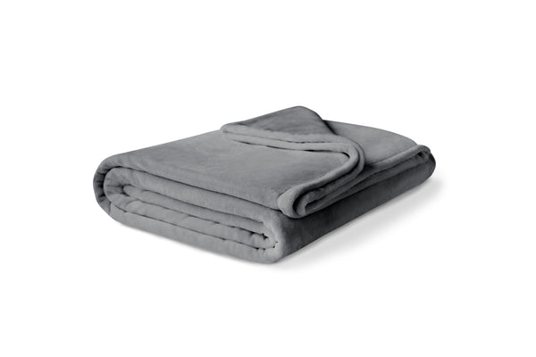 Folded gray fleece blanket (No Script)