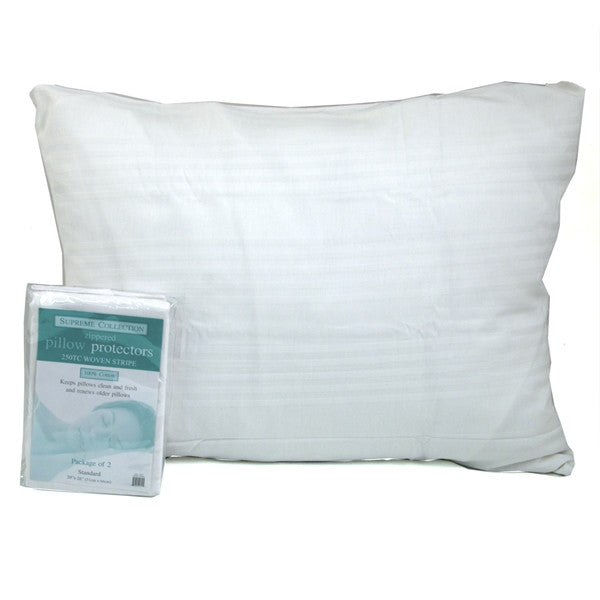 Cotton pillow protector pairs