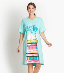 Kitty Cat Book Club Sleepshirt