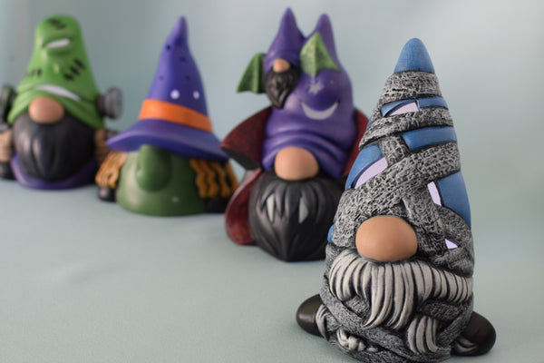 Ceramic Halloween Mummy Gnome