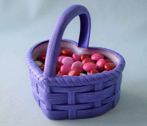 Heart Basket | Purple Valentine Decor