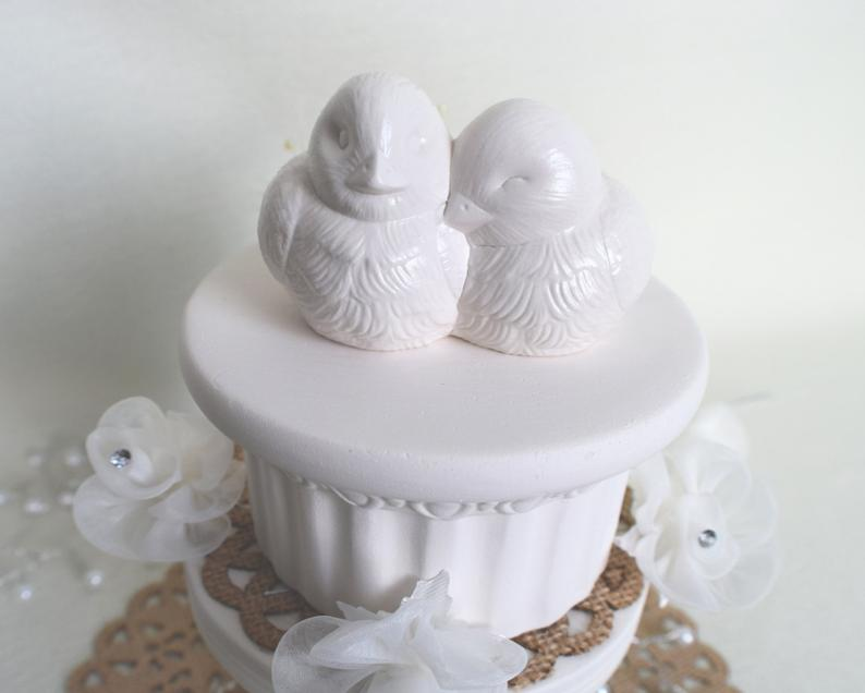 Wedding Cake Topper | Lovebirds