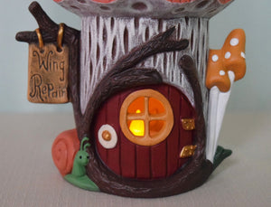 Fairy House -Butterfly Fairy House - Tealight Holder - Lighted Fairy House - Gift for little girl - Fairy Dwelling - Mothers Day Gift