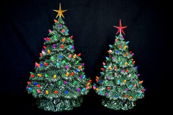 Vintage Ceramic Tree | Blue Spruce | 16.5""