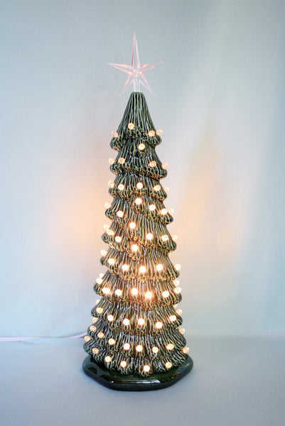 Ceramic Christmas tree | 16 inches | Slim Style