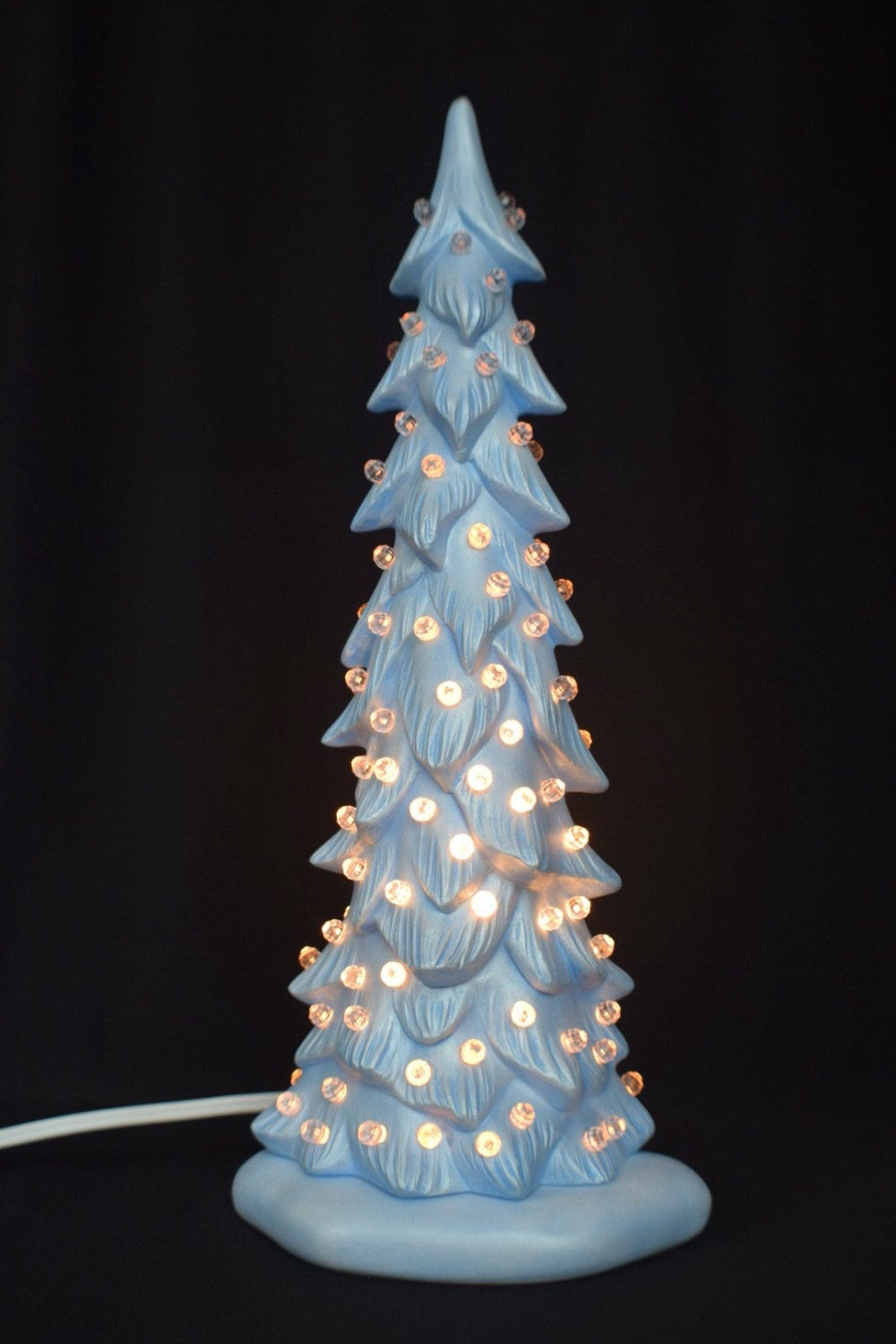Winter Ceramic Pine | Christmas Tree Light