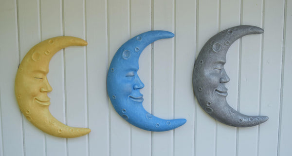 Moon Wall Art - Moon Wall Hanging - Moon Nursery Decor - Outdoor wall hanging - Hanging Yard Art - Moon Wall Decor - Baby shower gift
