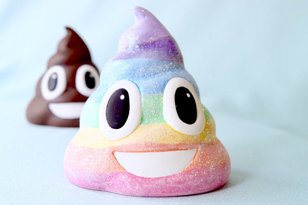 Ceramic Rainbow Poo | Emoji Ornament