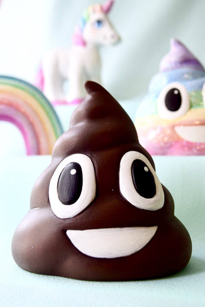 Emoji - Poop - Ceramic Poop - Poop Emoji Birthday - Brown Poop - Shit Emoji - Poop Emoji Decor - Poop Gag Gift - Poop Bathroom Decor
