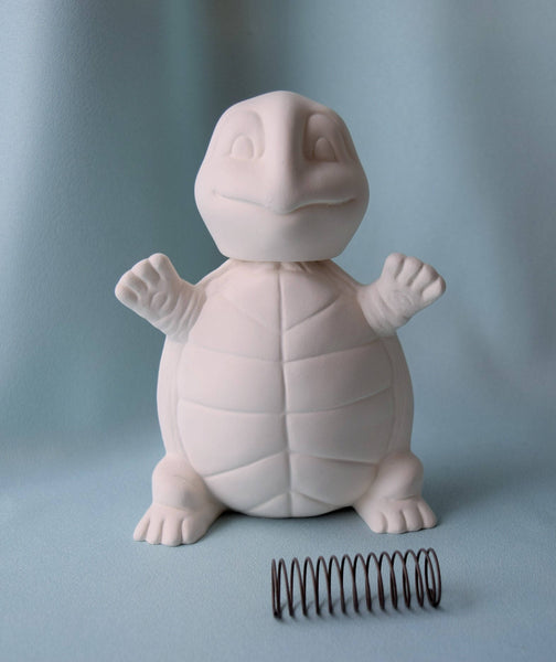 Bisque Bobble Head | DIY Turtle
