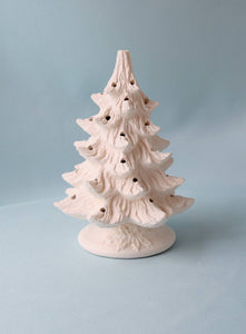 DIY Bisque Ceramic Christmas Tree | 8"