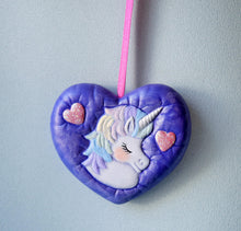 Load image into Gallery viewer, Unicorn Heart Necklace