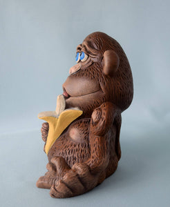 Ceramic - Monkey - Figurine - Nursery Decor - Ape - Chimpanzee - Jungle baby Shower - Birthday - Collectible - Gift for Kids -