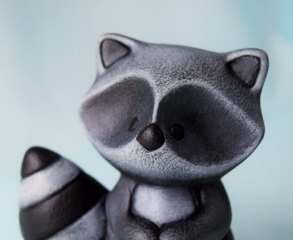 Ceramic Raccoon | Woodland Nursery | Cake Topper