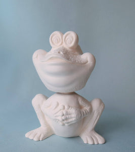 Bisque Bobble Head | Frog