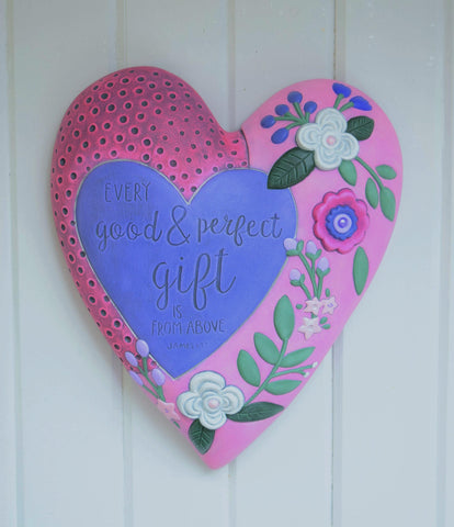 Heart Wall Hanging | Bible Verse