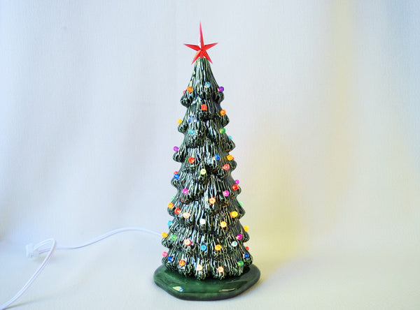 Ceramic Christmas tree in bisque - Slim Christmas Tree - 9 inches tall -  Tree - Ready to paint - Painting project - DIY ceramics