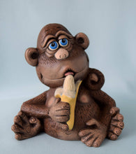 Load image into Gallery viewer, Ceramic - Monkey - Figurine - Nursery Decor - Ape - Chimpanzee - Jungle baby Shower - Birthday - Collectible - Gift for Kids -