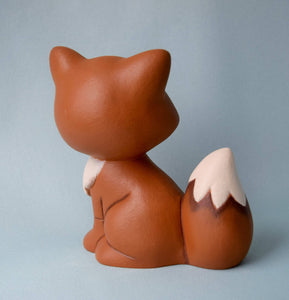 Miniature Ceramic Fox | Woodland Nursery Fox