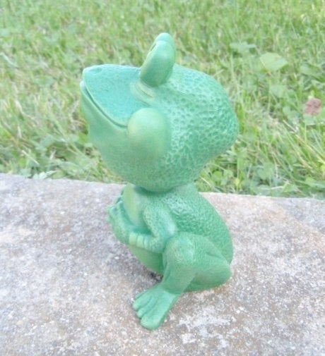 Bobble Head Ceramic Frog