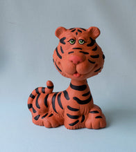 Load image into Gallery viewer, Tiger Bobble Head - Ceramic Tiger - Tiger Decor - Tiger Nodder - Bobble Head Tiger - Gifts under 15 - Elephant Figurine - Collectible Tiger