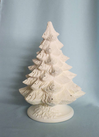 Vintage Style Ceramic Christmas Tree | Bisque | DIY
