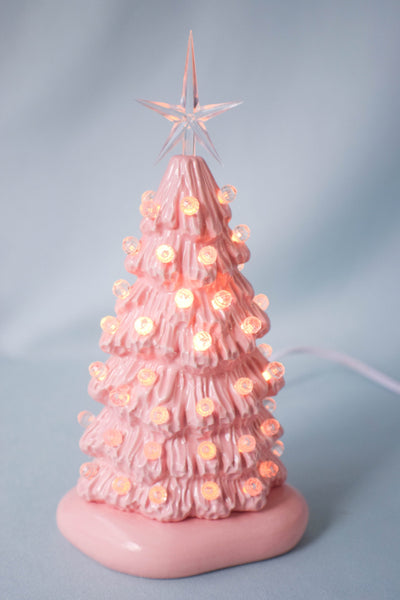 Mini Pink Christmas Tree
