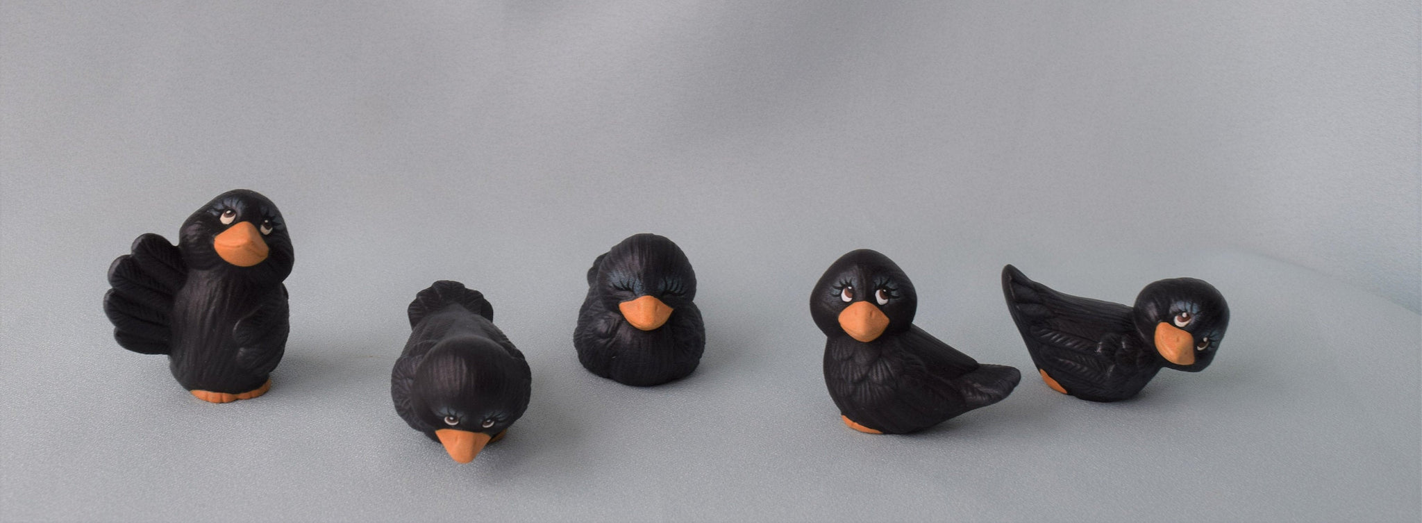 Ceramic Crows | Set of Five
