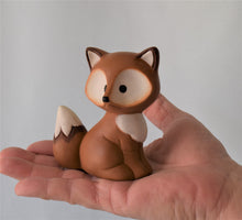 Load image into Gallery viewer, Miniature Ceramic Fox | Woodland Nursery Fox