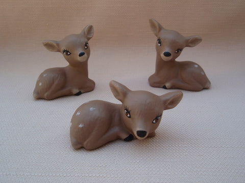 Miniature Ceramic Deer | Set of Three | Woodland Animals