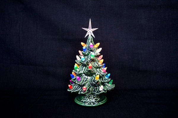 Ceramic Christmas Trees | Set of Three | Small