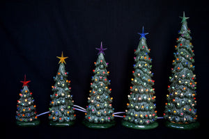 Ceramic Christmas tree in bisque - Slim Christmas Tree - 10.5 inches tall -  DIY