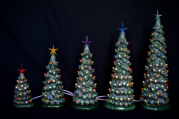 "Ceramic Bisque Holiday Village Tree - 13"" Tree - DIY"