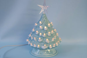 Ceramic Christmas Tree | Snowy Fur Branches