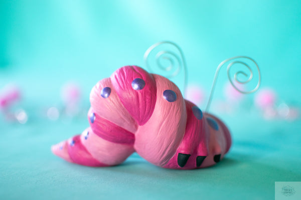 Valentine Wormy | Ceramic Caterpillar | Pink Ceramic Decor