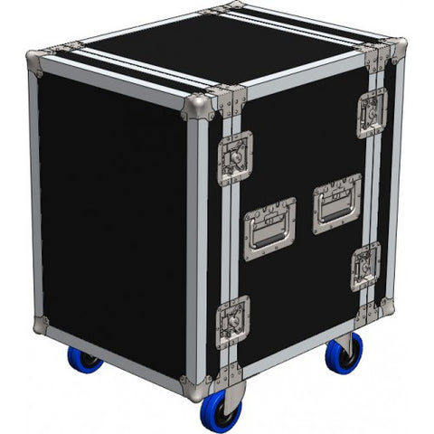 18U Roadcase on Wheels